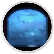 Mystic Moonrise Round Beach Towel