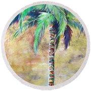 Mystic Palm Round Beach Towel