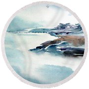 Mystic River Round Beach Towel