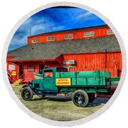 Mystic Seaport '31 Model A Ford Round Beach Towel
