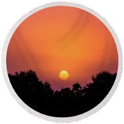 Round Beach Towel featuring the photograph Mystical And Dramatic by Shelby Young
