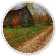 Mystical Country Lane  Round Beach Towel
