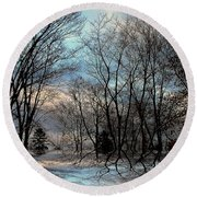 Mystical Round Beach Towel by Elfriede Fulda