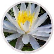 Mystical Lotus Round Beach Towel
