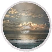 Mystical Moon Round Beach Towel