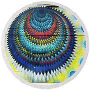 Mystical Ride Round Beach Towel