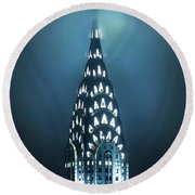 Mystical Spires Round Beach Towel by Az Jackson