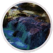 Mystical Springs Round Beach Towel by DigiArt Diaries by Vicky B Fuller