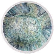 Mystical Sea Turtle Round Beach Towel