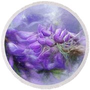 Round Beach Towel featuring the photograph Mystical Wisteria By Kaye Menner by Kaye Menner