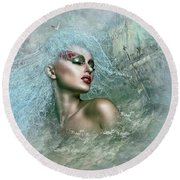 Mystique Mermaid Round Beach Towel