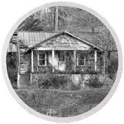 Round Beach Towel featuring the photograph N C Ruins 1 by Mike McGlothlen