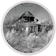 Round Beach Towel featuring the photograph N C Ruins 2 by Mike McGlothlen