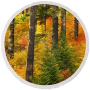N W Autumn Round Beach Towel