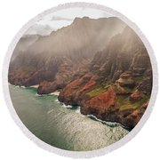 Na Pali Coast 4 - Kauai Hawaii Round Beach Towel