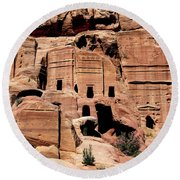 Round Beach Towel featuring the photograph Nabataeans' City by Mae Wertz