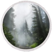 Naches Loop Trail Round Beach Towel