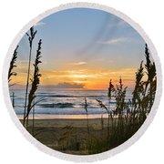 Nags Head August 5 2016  Round Beach Towel