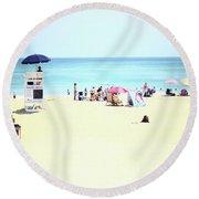 Nags Head Round Beach Towel