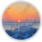 Nags Head Sunrise 7/15/16 Round Beach Towel