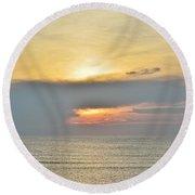Nags Head Sunrise 7/24/16 Round Beach Towel