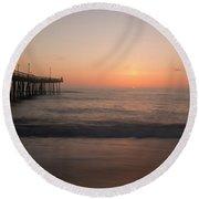 Nags Head Sunrise Round Beach Towel