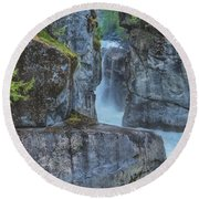 Round Beach Towel featuring the photograph Nairn Falls by Jacqui Boonstra