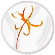 Naked Flower Round Beach Towel