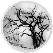 Naked Tree Round Beach Towel