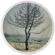 Round Beach Towel featuring the photograph Naked Tree by Marco Oliveira