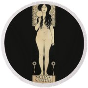 Naked Truth Round Beach Towel