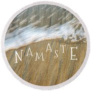 Namaste On The Beach Round Beach Towel