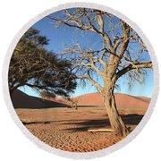 Namibia Sossusvlei 3 Round Beach Towel