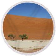 Namibia Sossusvlei 1 Round Beach Towel