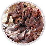 Namibia Tribe 12 Round Beach Towel