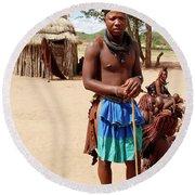 Namibia Tribe 3 - Chief Round Beach Towel