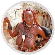Namibia Tribe 5 Round Beach Towel