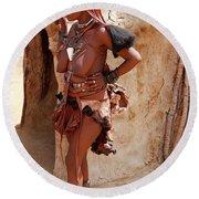 Namibia Tribe 6 Round Beach Towel