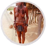 Namibia Tribe 7 Round Beach Towel