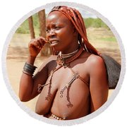 Namibia Tribe 8 Round Beach Towel