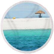 Round Beach Towel featuring the photograph Namotu Beach by Brad Scott