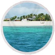 Namotu Fiji Panorama Round Beach Towel by Brad Scott