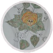 Nana Rose Is Here Round Beach Towel