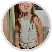 Nana's Necklace Round Beach Towel