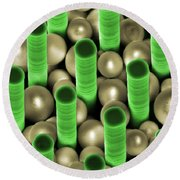 Nanoparticle Trapping, Nanotechnology Round Beach Towel