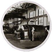 Nanticoke Pa Electrical Generators Glen Alden Mines Power Plant 1945 Round Beach Towel