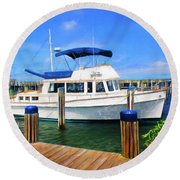 Nantucket Harbor Safe Harnor Series 52 Painted Round Beach Towel