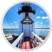 Nantucket Lighthouse - Y3 Round Beach Towel