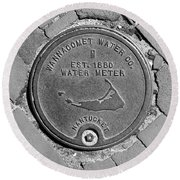 Nantucket Water Meter Cover Round Beach Towel