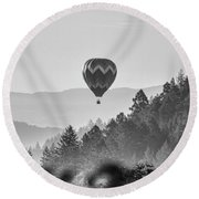 Napa Balloon Round Beach Towel